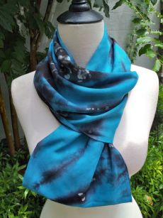 XDI964c Bright Color TieDye Rayon Infinity Scarf