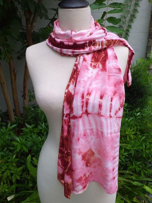 XED672d Bright Color TieDye Rayon Versatile Scarf