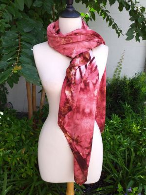 XEQ206A Rayon Scarf Hand Tie Dye Square Bright Color Hemmed Uniquel