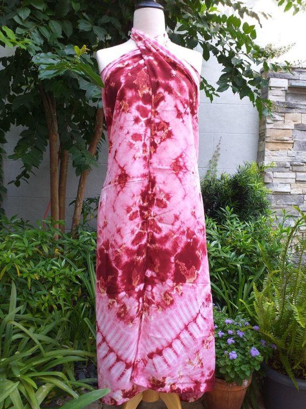 XEQ804E Rayon Scarf Hand Tie Dye Square Bright Color Hemmed Uniquel