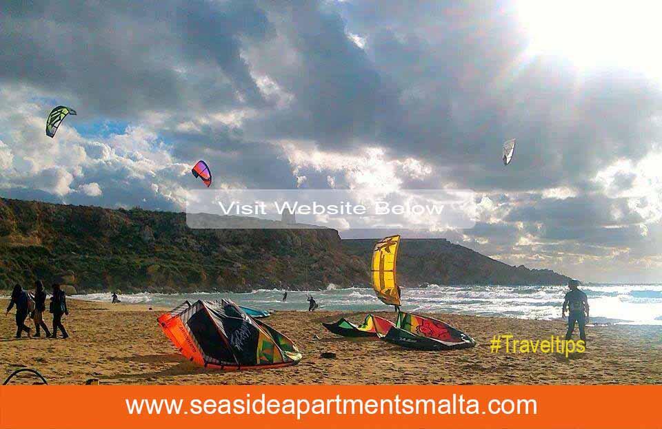 Kite Surfing in Golden Bay Malta