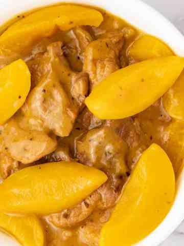 Creamy Peaches and Pork delicious