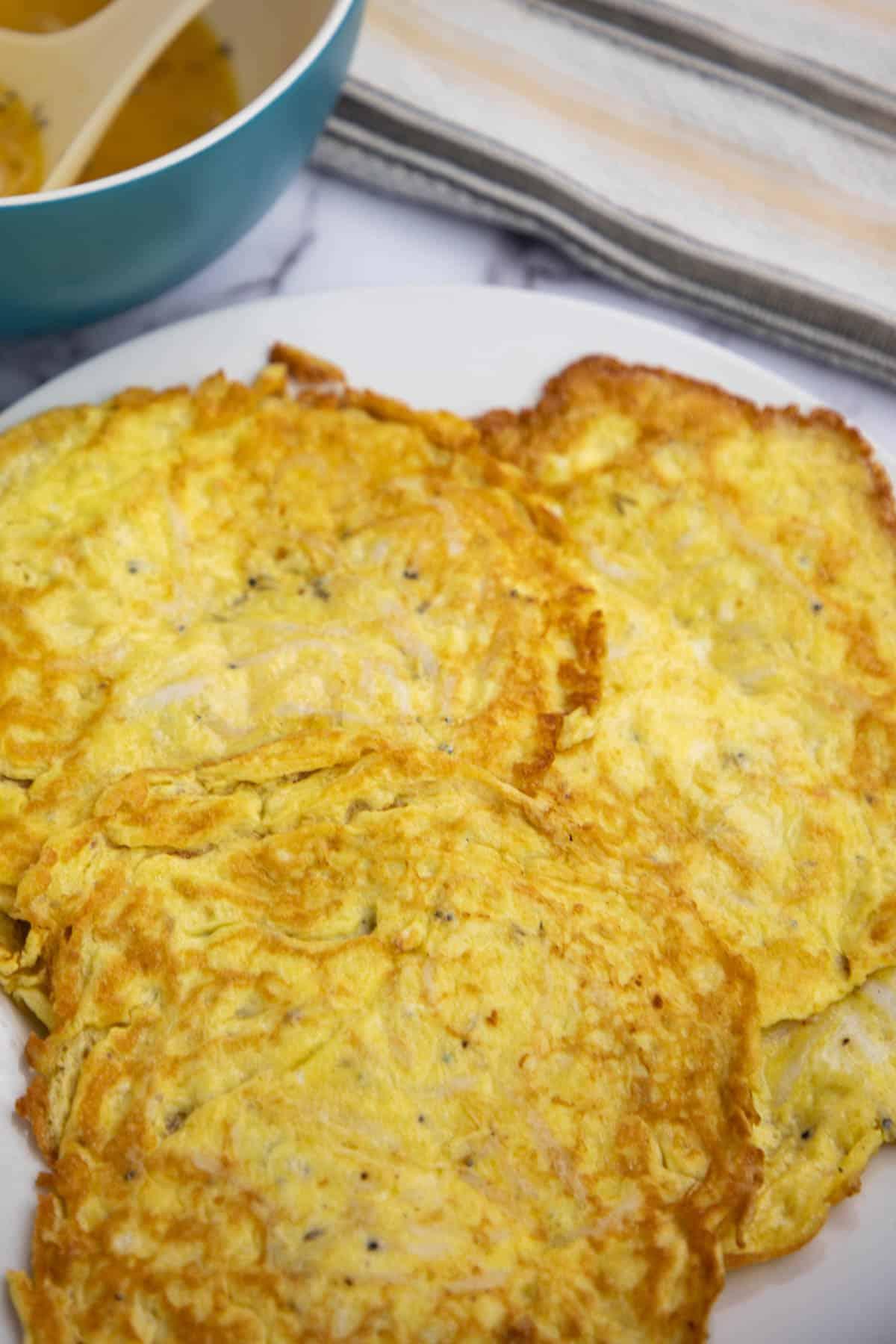 silverfish omelet, very tiny fish omelet. via @seasiderecipes