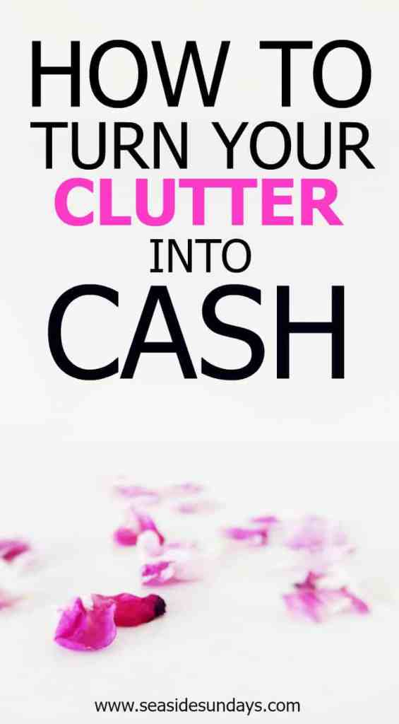 How to make money online by getting rid of the clutter in your house. Make cash easily when you get rid of junk. How to sell your stuff online to make money. If you want to live a minimalist lifestyle, you need to clear the clutter. Have a clutter free home and make extra money by trading it in for cash. How to sell on eBay, Craigslist and more. Enjoy an organized life with clutter-free closets and an organized house when you get rid of your stuff.