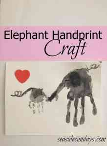 Parent & Child Elephant Hand print Craft