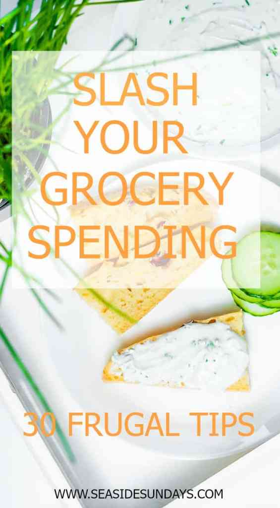 Want to slash your grocery budget? These frugal tips for saving tons of money on food will make it easy! www.seasidesundays.com