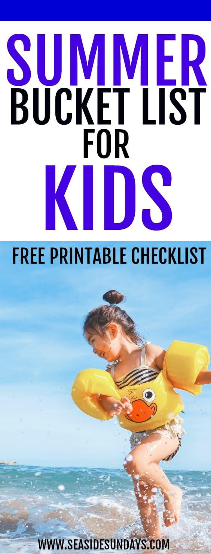 Summer Bucket List   summer activities for toddlers   fun activities for preschoolers   free activities for kids