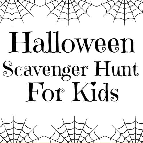 Halloween Scavenger Hunt for Toddlers (Free Printable)