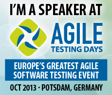 Speaker at Agile Testing Days
