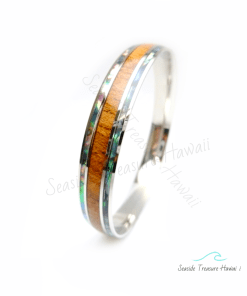 abalone koa wood bangles 10mm