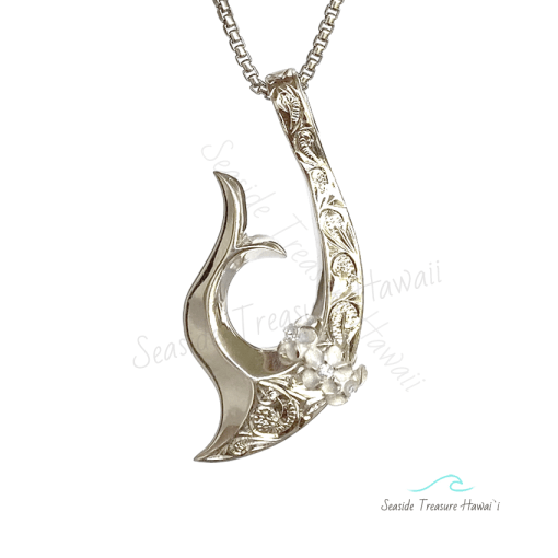 silver whale tail fish hooks