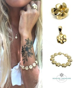 gold plumeria collections