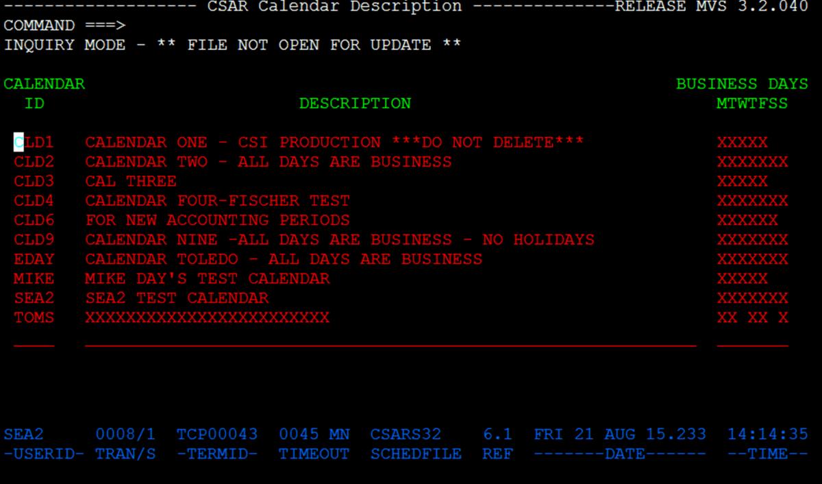 Job Scheduling Software  Mainframe Job Scheduler  Csar