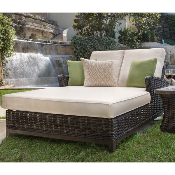 catalina double chaise lounge by patio