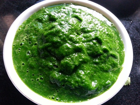 Pureed Spinach for cottage cheese recipe