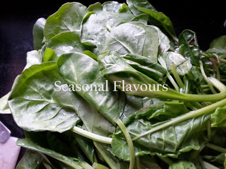 Spinach for paneer recipe