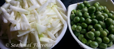 Bottle Gourd And Green Peas