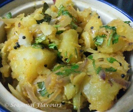 Aloo curry for Andhra Kara Dosa