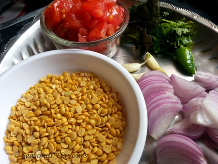 Andhra Tomato Pappu Ingredients