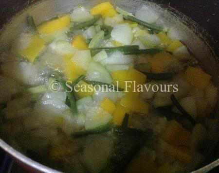 Vegetables for Vegetable Coconut Stew Sadhya Special