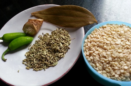 Ingredients for Kalai Dal