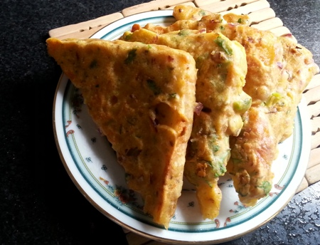 Veg Bread Besan Toast Recipe