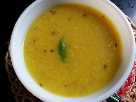 Roasted Yellow Moong Dal Recipe