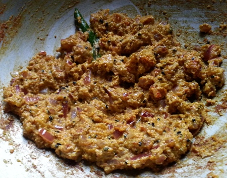 Add shorshe posto bata for Indian prawn recipe