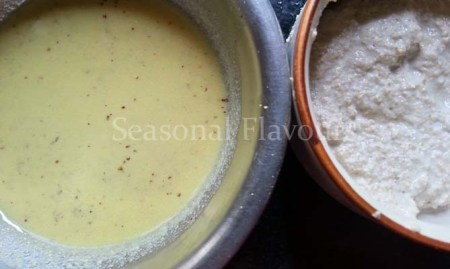 Shorshe-posto bata for Bengali vegetarian drumstick recipe