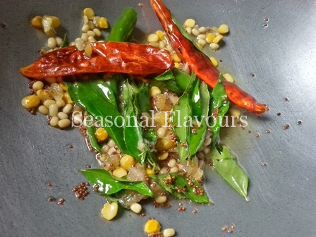 Seasoning for Nimakayya Pulihora Recipe