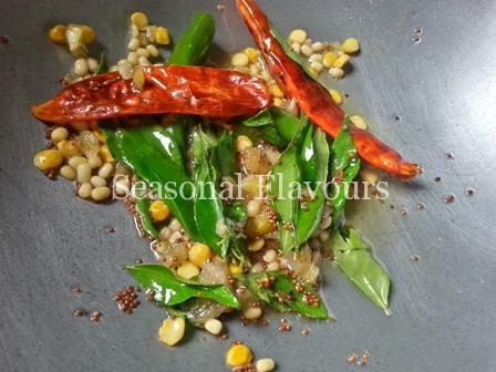 Seasoning for Nimakayya Pulihora Recipe
