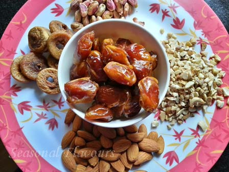 Dry fruit roll recipe ingredients