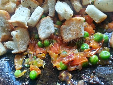 toasted bread for upma with bread recipe