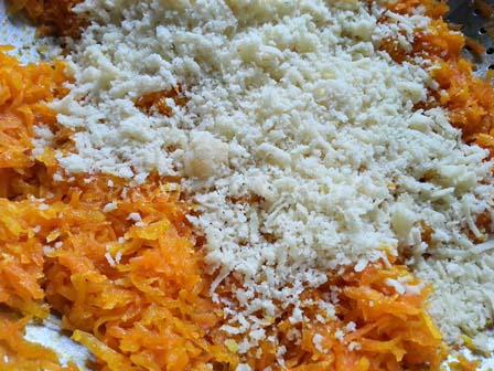 Add khoya for gajar halwa recipe