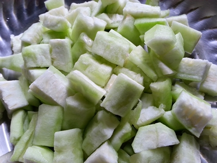 ridge gourd for jhinge recipe