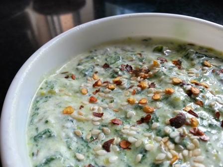 spinach yogurt dip recipe