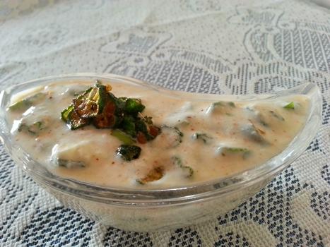 bhindi okra raita recipe