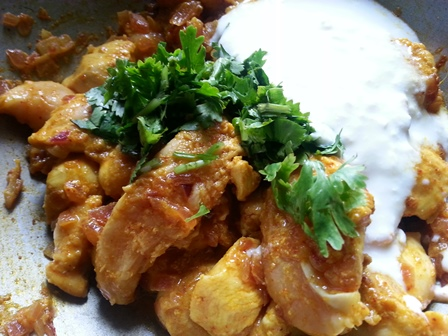 add curd and coriander leaves for curry leaves chicken recipe