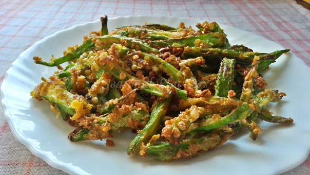 okra fry recipe