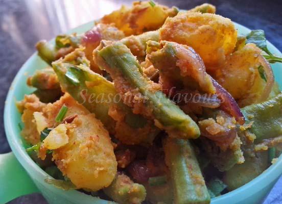 Yard long beans and Potato Recipe