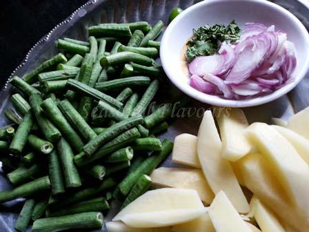 Barbati Aloo Recipe ingredients