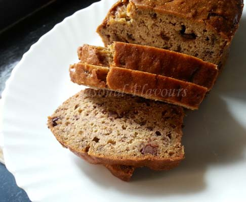 Banana Chocolate Chips Bread Recipe