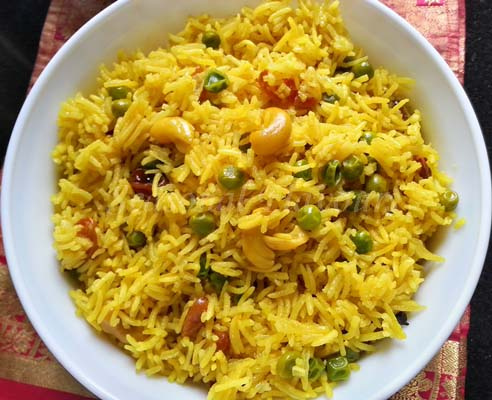 Indian yellow rice recipe