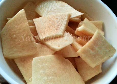 yam slices for Senai Kilangu Fry recipe