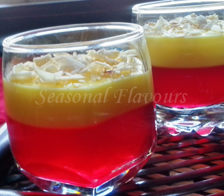 Jelly custard dessert recipe