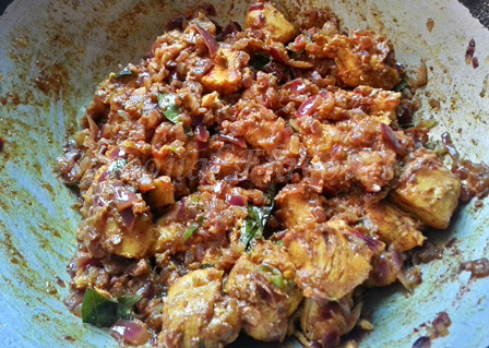 recipe of chicken vepudu preparation