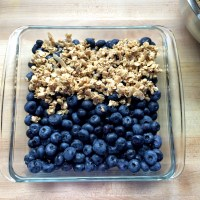 Healthier Blueberry Crisp (+ Fermented Blueberries)