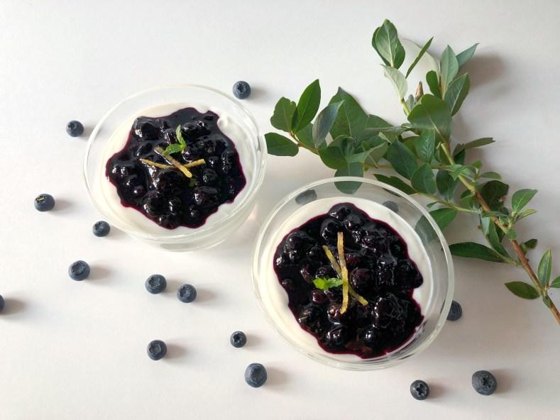 Honeyed Greek Yogurt and Blueberry Jam