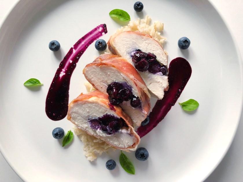 Blueberry stuffed chicken