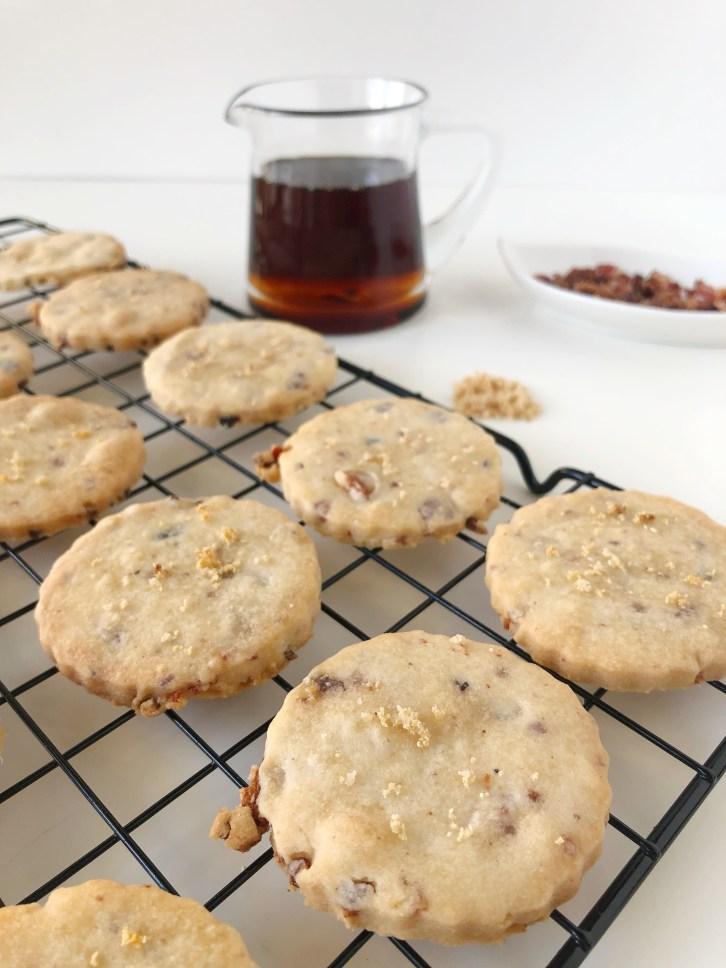 Maple Bacon Shortbread Cookies